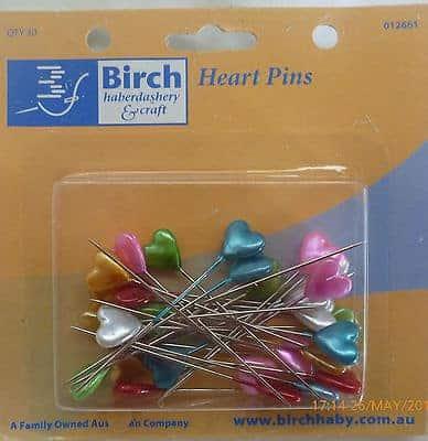 Birch Heart Pins - 30 Pins-45