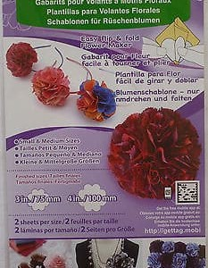 Clover Flower Frill Template - Small/Med-49