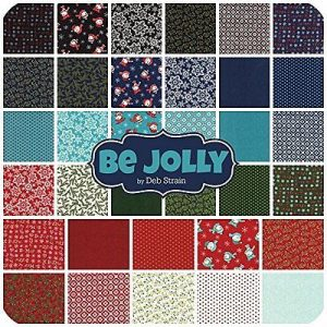 Christmas Fabric - Moda Charm Pack - Be Jolly by Deb Strain-34