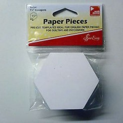 "Sew Easy Paper Pieces PreCut Hexagons 1.5"" (38mm)-47"