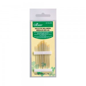 Clover Gold Eye Milliners Needles 3-9