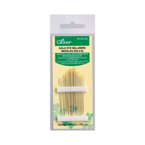 Clover Gold Eye Milliners Needles 3-9