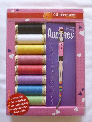 Gutermann Sewing Kit with Tweezer[Pink]-69