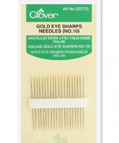 Clover Gold Eye Sharps Needles No. 10