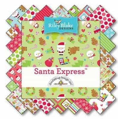 "Riley Blake 5"" Stacker - Santa Express-92"