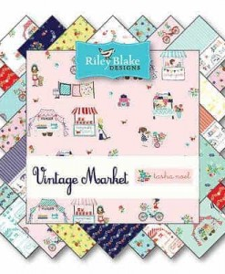 "Riley Blake 5"" Stacker - Vintage Market-85"