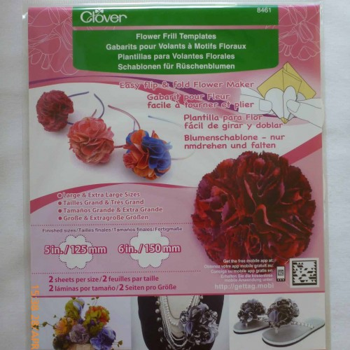 Clover Flower Frill Template - Large -104