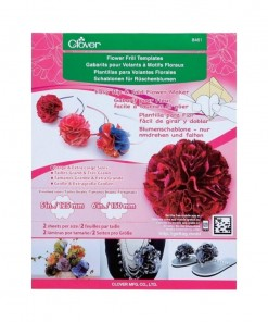 Clover Flower Frill Template 8461
