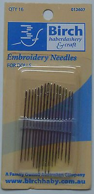 Birch Embroidery Needles for Dolls - 16 Needles-109