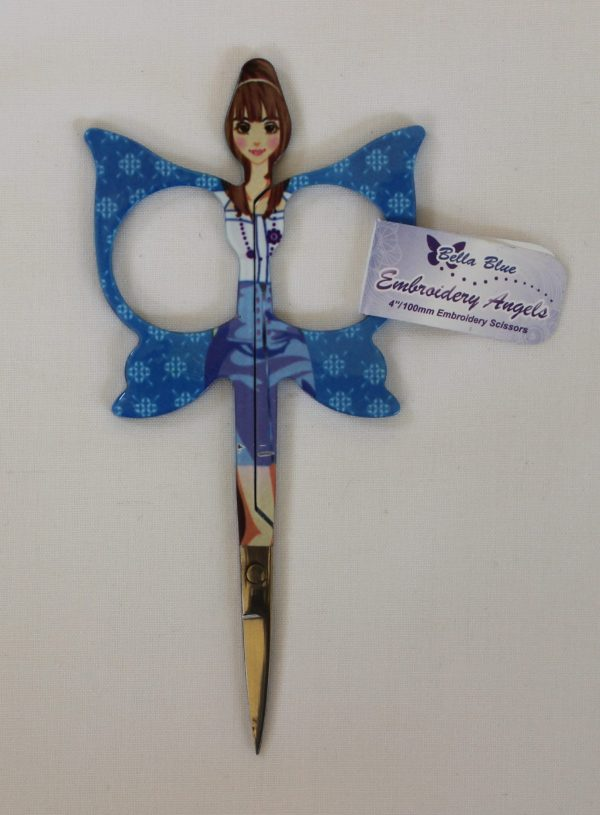Embroidery Angels - Embroidery Scissors 4 inch (10cm) [Blue]-137
