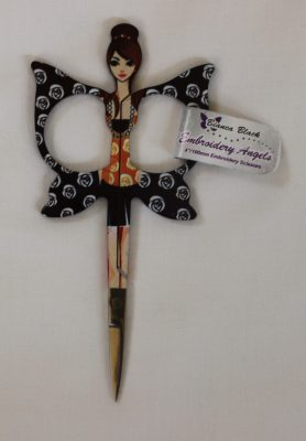 Embroidery Angels - Embroidery Scissors 4 inch (10cm) [Black]-140