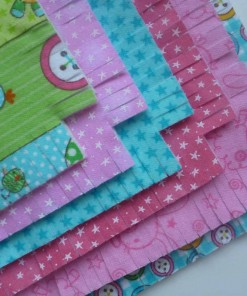 Layer Cake Shaggy Flannel Quilt kit for Children - Little Lady-129