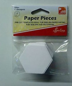 "Sew Easy Paper Pieces PreCut Hexagons 1"" (25.4mm)-115"