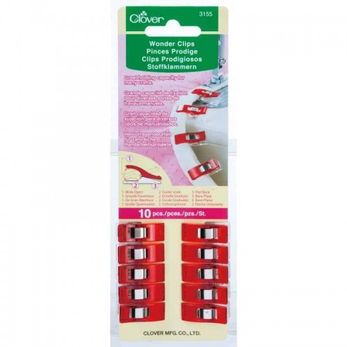 Clover Wonder Clips Pack of 10-237
