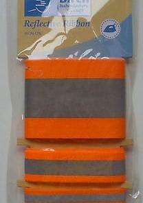 Birch Iron-on Reflective Tape - Orange-179