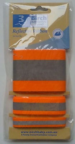 Birch Iron-on Reflective Tape - Orange-179