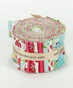 Riley Blake Quilting Fabric Rolie Polie - Santa Express-216