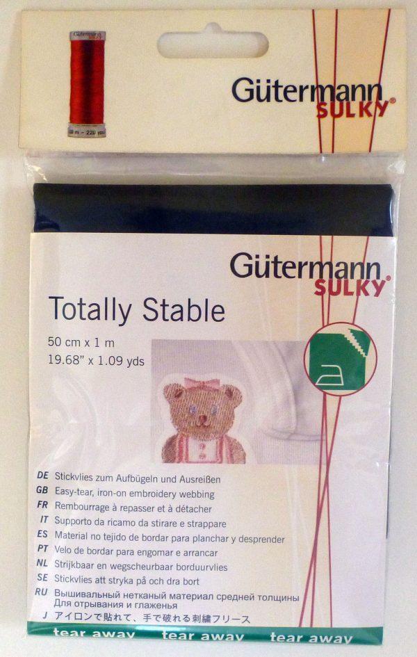 Gütermann Sulky Totally Stable 50 cm x 1 mtr - White-253