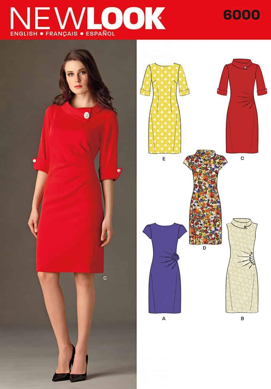 ca7eab7e02e Simplicity New Look Pattern 6000 Misses Dresses