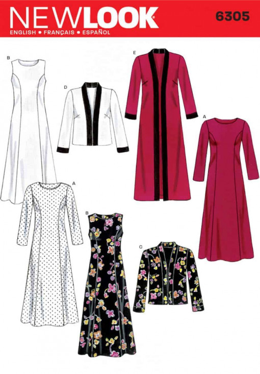 Sewing Pattern Dresses 6305