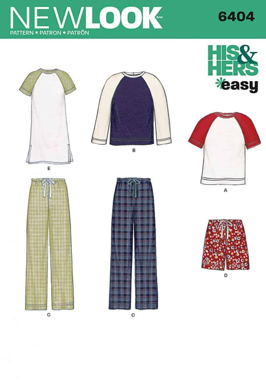 Simplicity New Look Sewing Pattern Unisex Sleepwear 6404 | ALISELLOU ...
