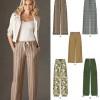 Sewing Pattern Skirts Pants 6005