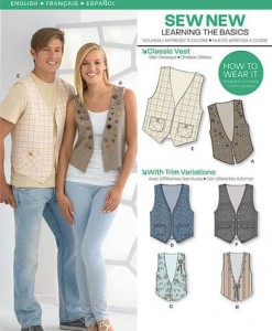 Sewing Pattern Tops Vests 6036