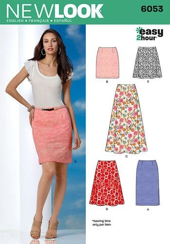 Sewing Pattern Skirts Pants 6053