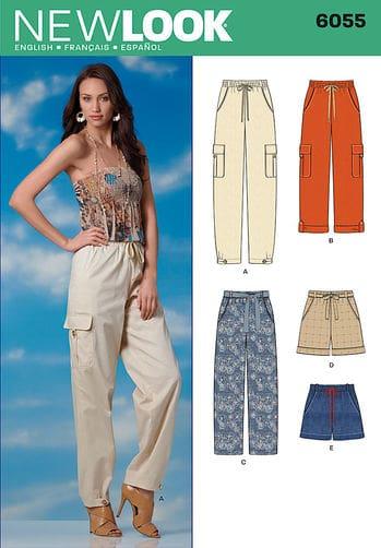 Sewing Pattern Skirts Pants 6055