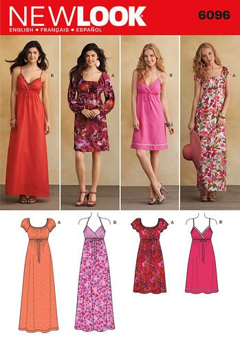 Sewing Pattern Dresses 6096
