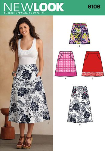 Sewing Pattern Skirts Pants 6106