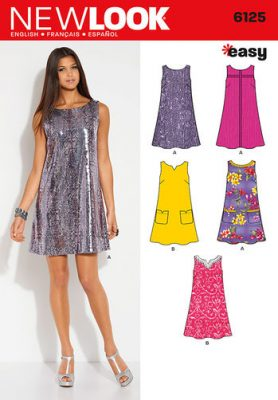 Sewing Pattern Dresses 6125