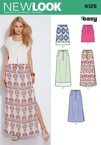 Sewing Pattern Skirts Pants 6129
