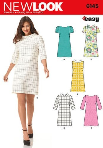 Sewing Pattern Dresses 6145