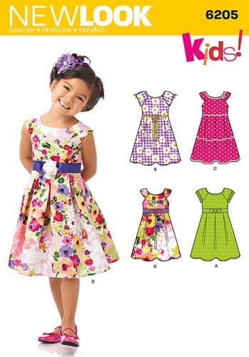 Sewing Pattern Dresses 6205