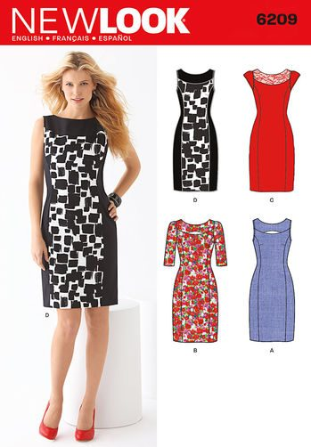Sewing Pattern Dresses 6209