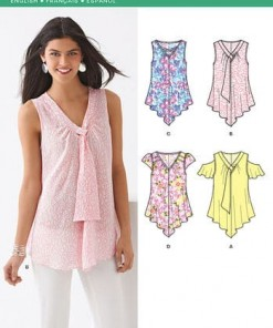 Sewing Pattern Tops Vests 6213