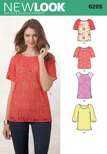 Sewing Pattern Tops Vests 6225