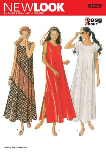 Sewing Pattern Dresses 6229