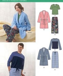 Sewing Pattern Sleepwear 6233