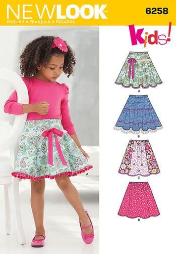 Sewing Pattern Skirts Pants 6258