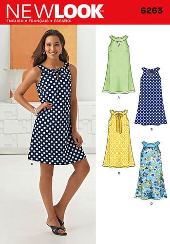 Sewing Pattern Dresses 6263