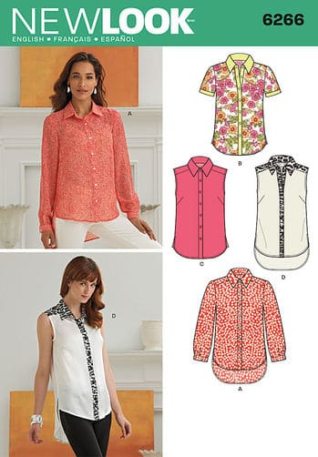 Sewing Pattern Tops Vests 6266