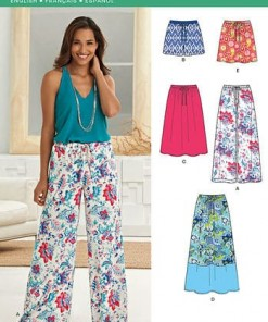 Sewing Pattern Skirts Pants 6271