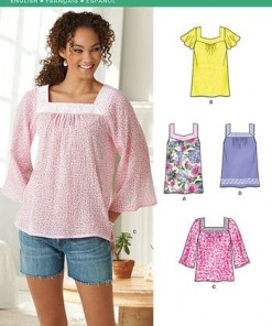 Sewing Pattern Tops Vests 6284