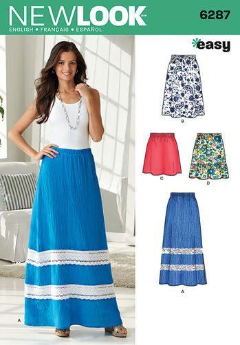 Sewing Pattern Skirts Pants 6287