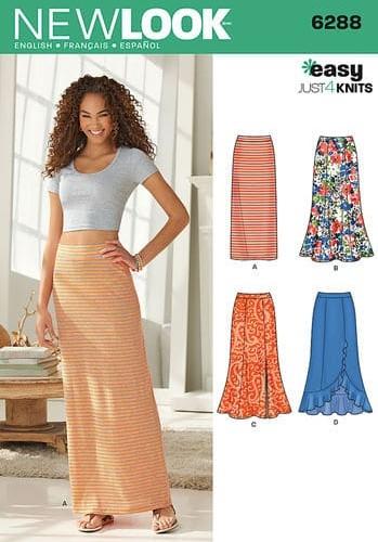Sewing Pattern Skirts Pants 6288