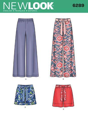 Sewing Pattern Skirts Pants 6289