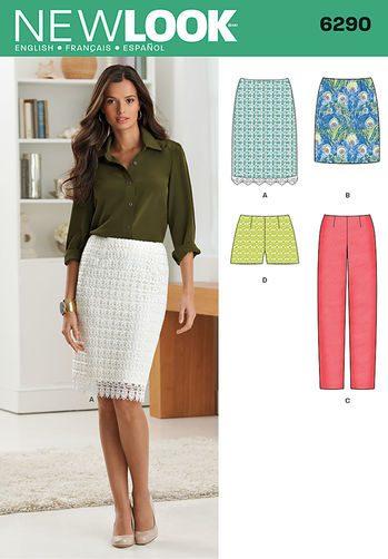 Sewing Pattern Skirts Pants 6290