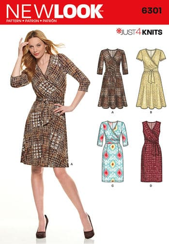 Sewing Pattern Dresses 6301
